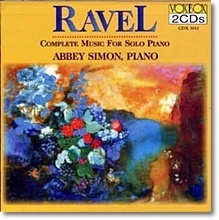 Abbey Simon / Ravel : Complete Music for Solo Piano (2CD/수입/미개봉/cdx5012)