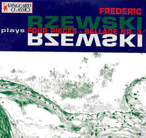 [중고] Frederic Rzewski / Rzewski Plays Four Pieces - Ballade Nr. 3 (수입/08919971)