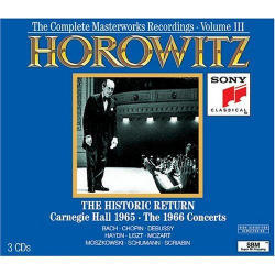 [중고] Vladimir Horowitz / The Historic Return Carnegie Hall 1965, The 1966 Concerts (3CD/cc3k7370/s3k53461)